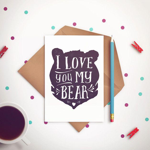 Miłosna pocztówka - JaCieBrosze - Kartki walentynkowe
