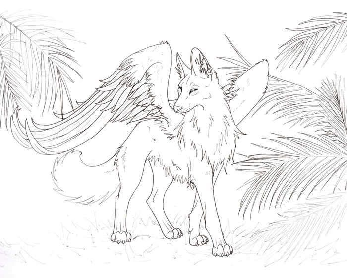 Wolf With Wings Coloring Pages Wolf Colors Animal Coloring Pages Deer Coloring Pages