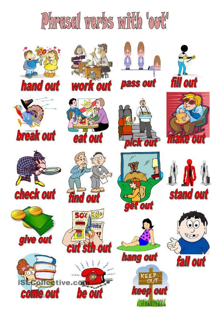 To all my students to practice 19 Phrasal Verbs with OUT ...