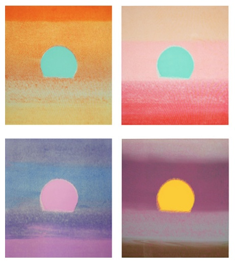 Andy Warhol, Sunsets, 1972 love these paintings