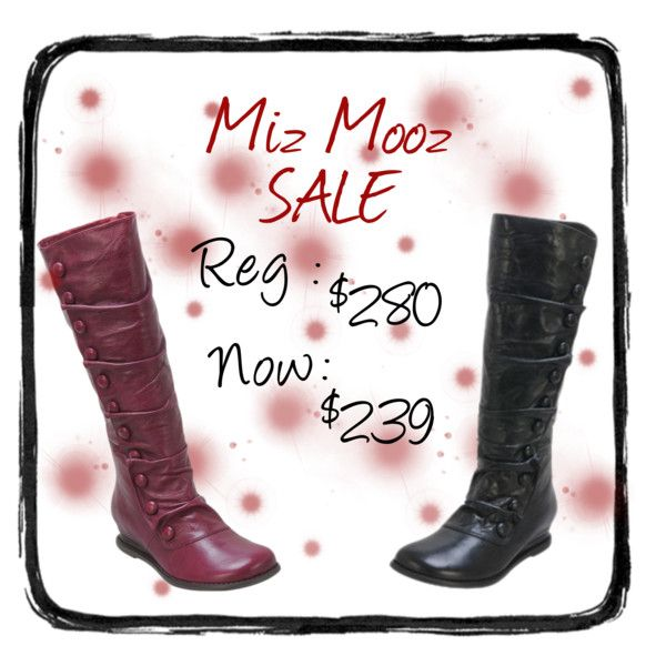 Miz Mooz boot now on sale @ Quintessential Downtown Nanaimo. Available in both black and red. Good fit for a bit wider of a calf as well!! Now $239