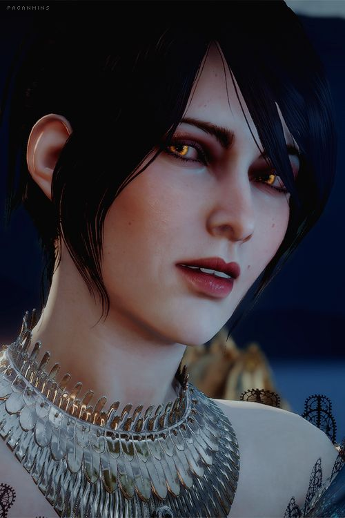 Morrigan - Dragon Age Inquisition (like her best when Kieran is the Warden's son and helped raise him. she's much... sassier? happier? either, it makes me happy)