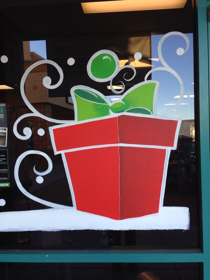 Christmas window painting 2014