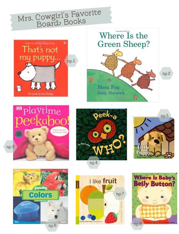 Mrs Cowgirl's Favorite Board Books via hellobee