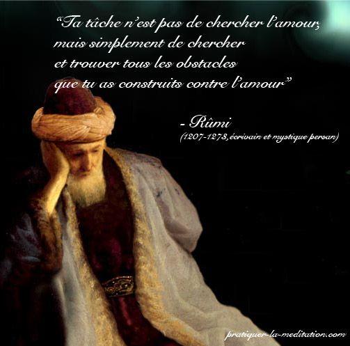 Citations et Panneaux Facebook à partager: Panneau de sagesse de Rumi