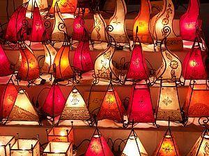 лампа для чтения кожи марокканской