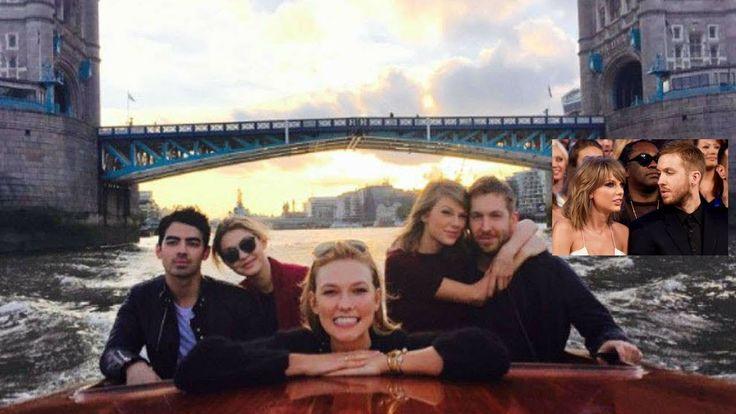 Taylor Swift with Ex-Boyfriend Calvin Harris