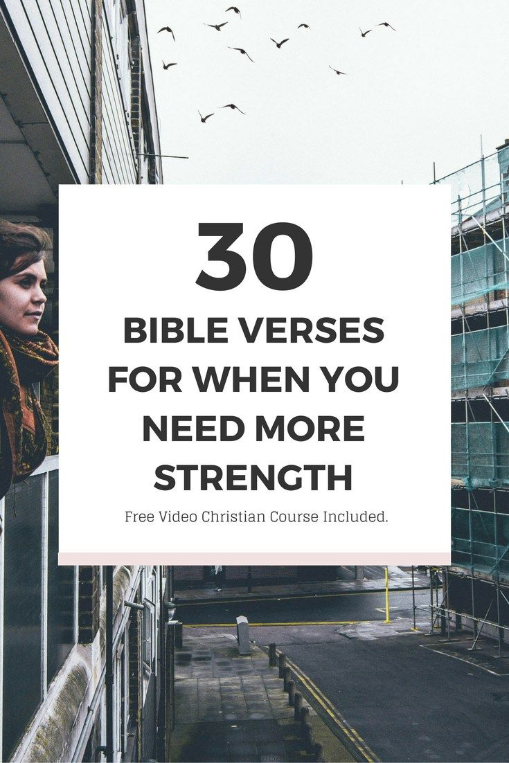 Bible Verses: 30 Bible Verses For When You Need More Strength and Free Christian Video Course Included Click The Image For To Get The Full Post It's Free :-) | Ikeashia Barr