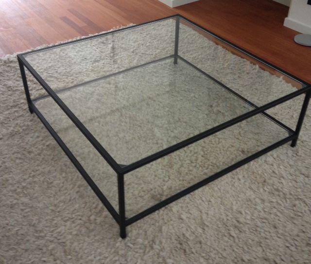 Salontafels / zwarte glazen salontafel / ST-06