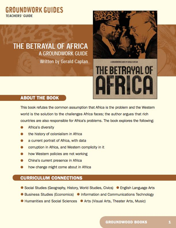 Teachers' Guide for A Groundwork Guide to Africa. Think Africa, and many people think of brutal war, endless famine, pervasive corruption, unworthy rulers, universal poverty, an AIDS epidemic out of control. As this book in the Groundwork Guides series shows, these characteristics are both true and a caricature at the same time.