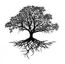 Resultado de imagen de tatuaje arbol raices profundas