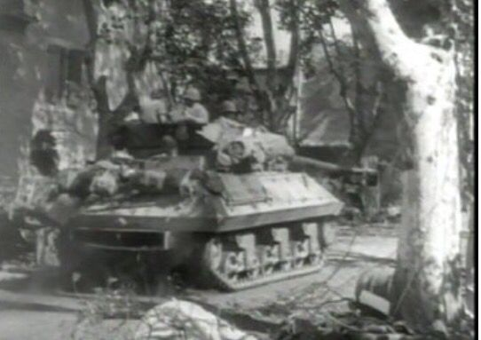 Allied tank in southern France during Operation Dragoon