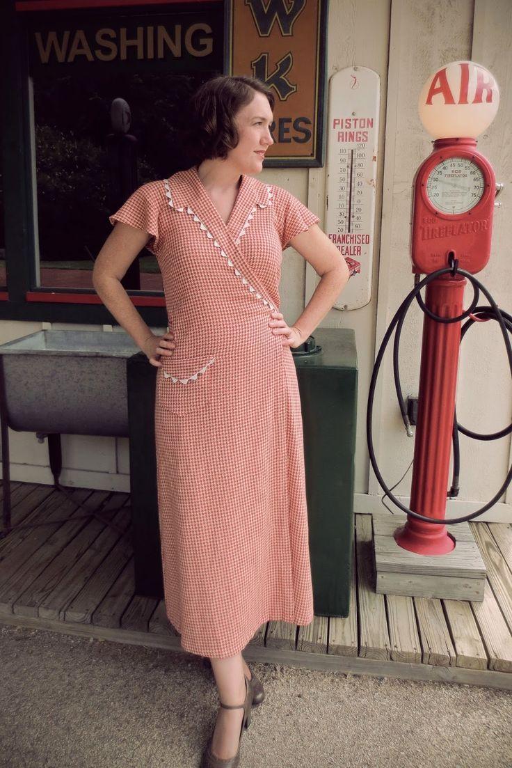 Depression Era style wrap dress