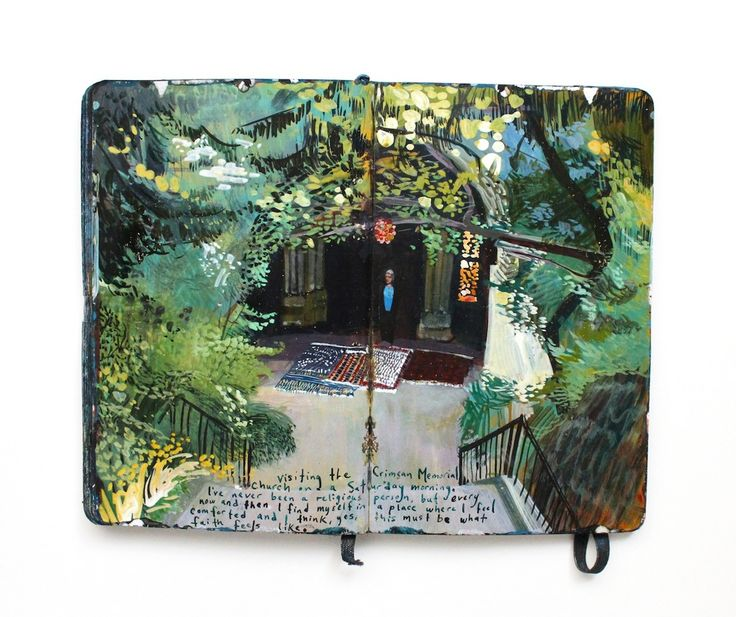 Sketchbook of painter Missy H. Dunaway