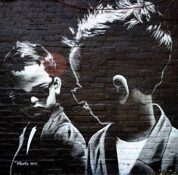 'Behind the mirror' New Street Art by Merle in Berlin #art #graffiti #mural #streetart