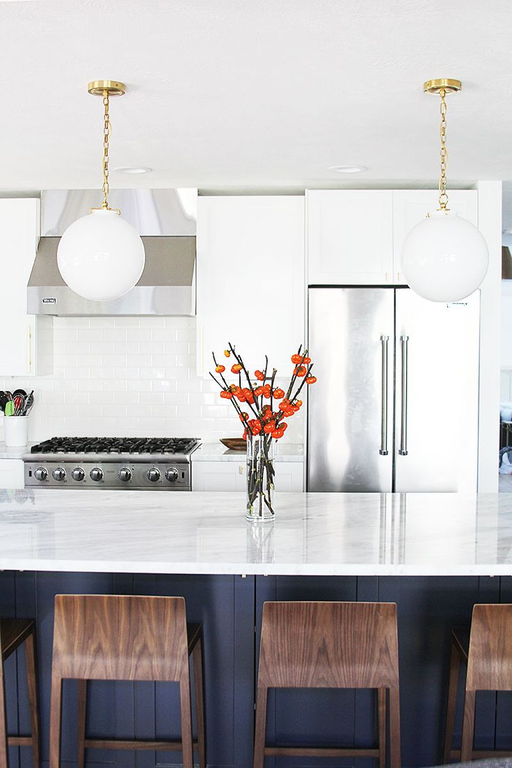 A Navy And White Kitchen Renovation   WithHEART