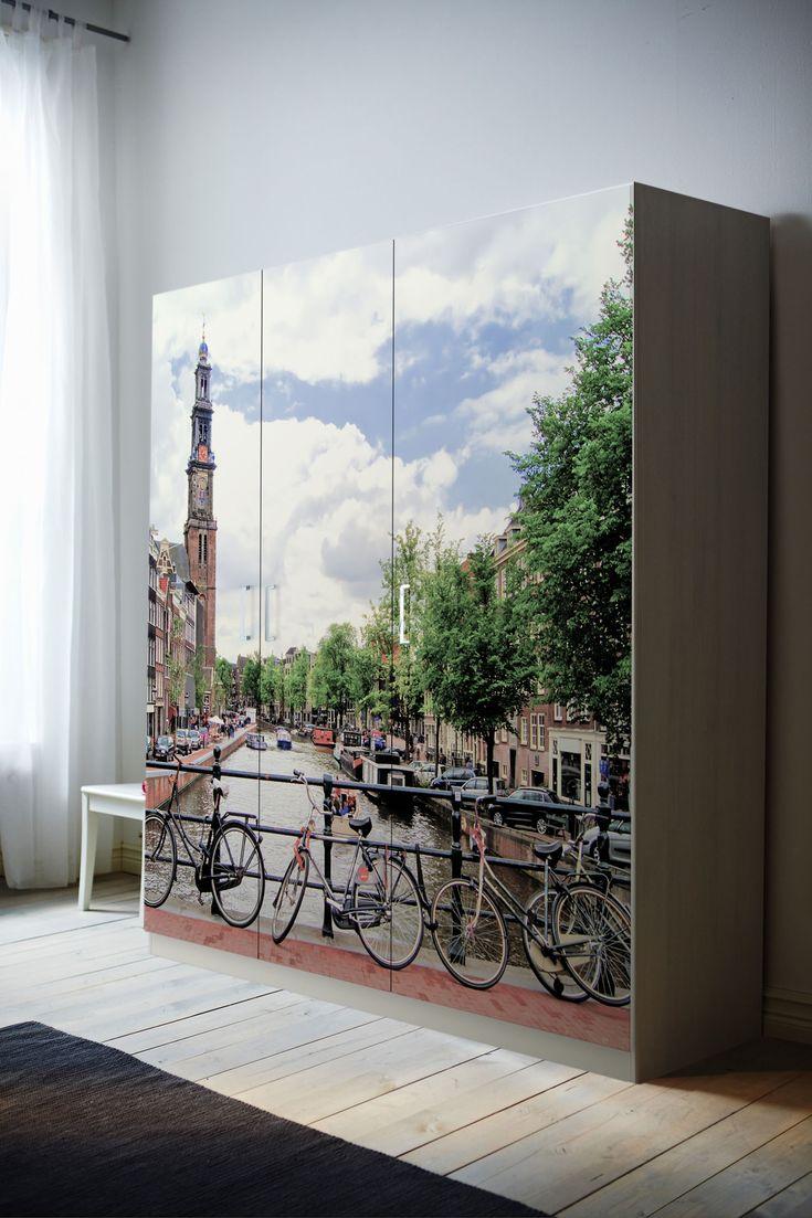 Vinilo para armario PAX de Ikea. Tú armario y tus fotos una obra de arte en el dormitorio. www.fotoikatz.com