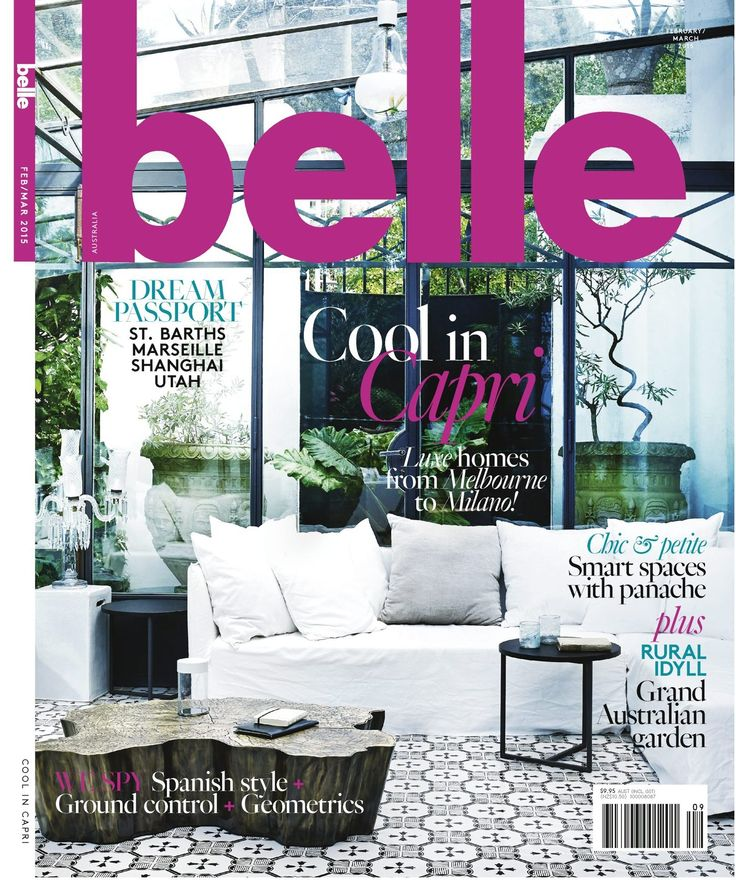 The latest Belle Magazine Cover, Feb/March 2015 issue.