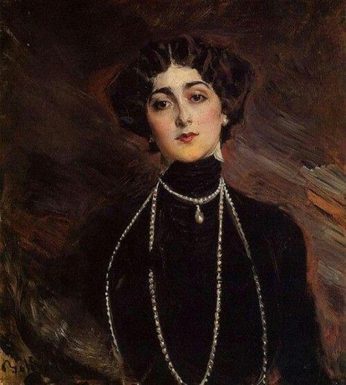 Portrait of Lina Cavalieri, ca 1901, Giovanni Boldini. Italian, (1842-1931)
