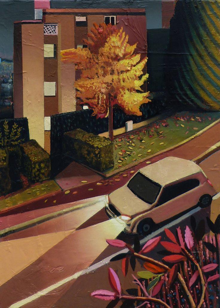 Mathieu Cherkit Le rodeur, 2014  Huile sur toile 70 x 50 cm Oil on canvas 279⁄16 X 1911⁄16in