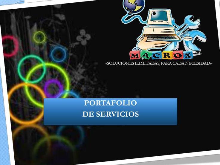 PORTAFOLIO DE SERVICIOS MACROX
