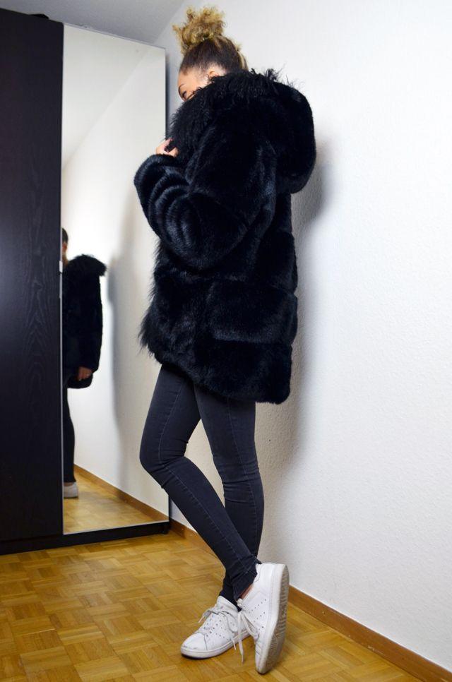 Manteau a capuche ceinture