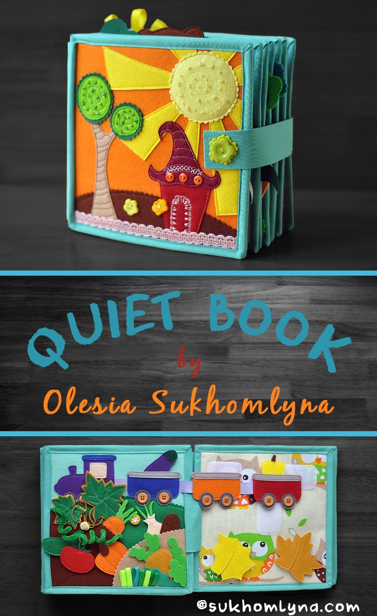 """Fairy tale quiet book """"12 Months"""". """"12 Months"""" is a fairy tale book which each boy can tell in his own way. It consists of 12 pages + 2 cover pages (day and night). It includes near 90 removable details!"""