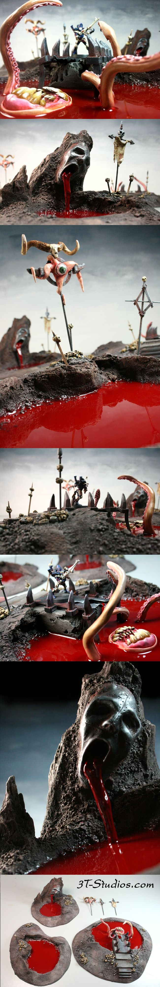 Dangerous Terrain: Chaos Blood Pools. Makes me want to build something just so I can add the blood! Cool!
