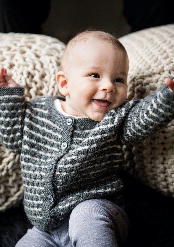 Gratis opskrift på drenge babytrøje