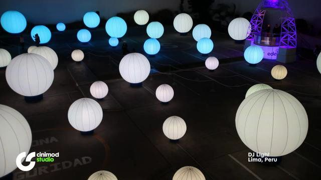 DJ Light (DJ Luz), Lima 2010 installation that sensor operated and results in sound and light chaneg
