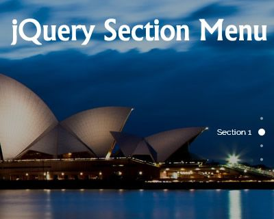 jQuery Section Menu #jQuery #section #menu #sidemenu #scroll #navigation #scrollto