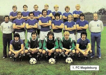 1. FC Magdeburg of East Germany team group in 1981.