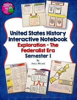American History Interactive Notebook Exploration - Federa