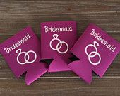 Koozies Party Favors for Bridal Party, Gift for Bridesmaid, Wedding Party Favors, Personalized Favor Koozies