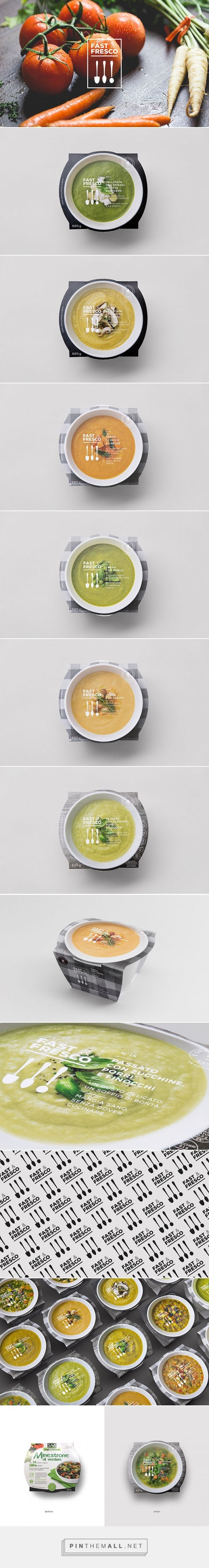 Fast & Fresco prepared dishes by Auge Design. Source: Daily Package Design Inspiration. Pin curated by #SField99 #packaging #design #inspiration #branding #prepared #food #soup