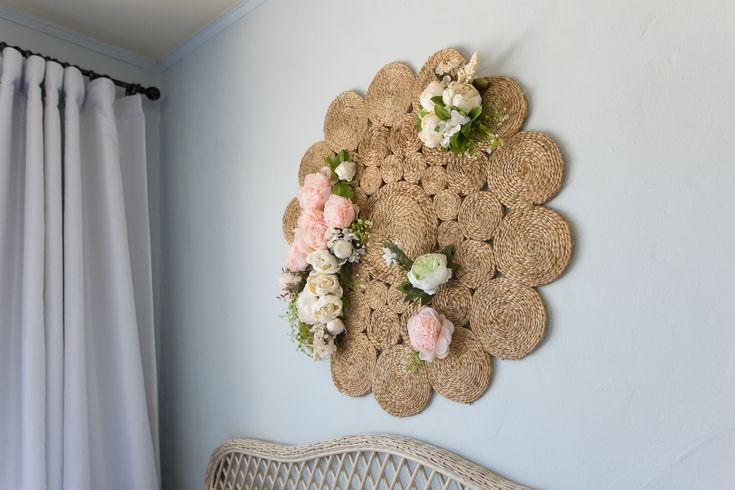 Diy floral jute wall medallion wall medallion jute