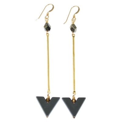 TOODLEBUNNY - Chevron Drop Earrings