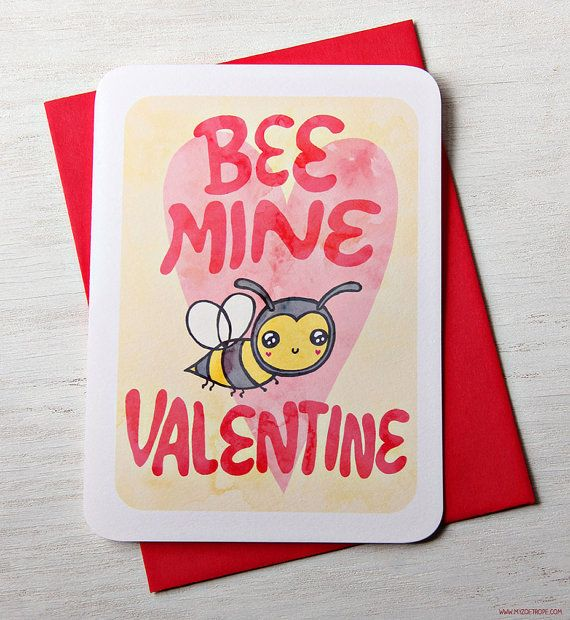 70 best images about Punch Lines – Bee Mine Valentine Card