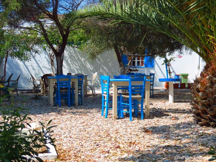 The chairs of Aliki Taverna and Studios. I wish I could be there right now. Selected and quality high resolution photo from Aliki, Kimolos, Cyclades Islands, Greece