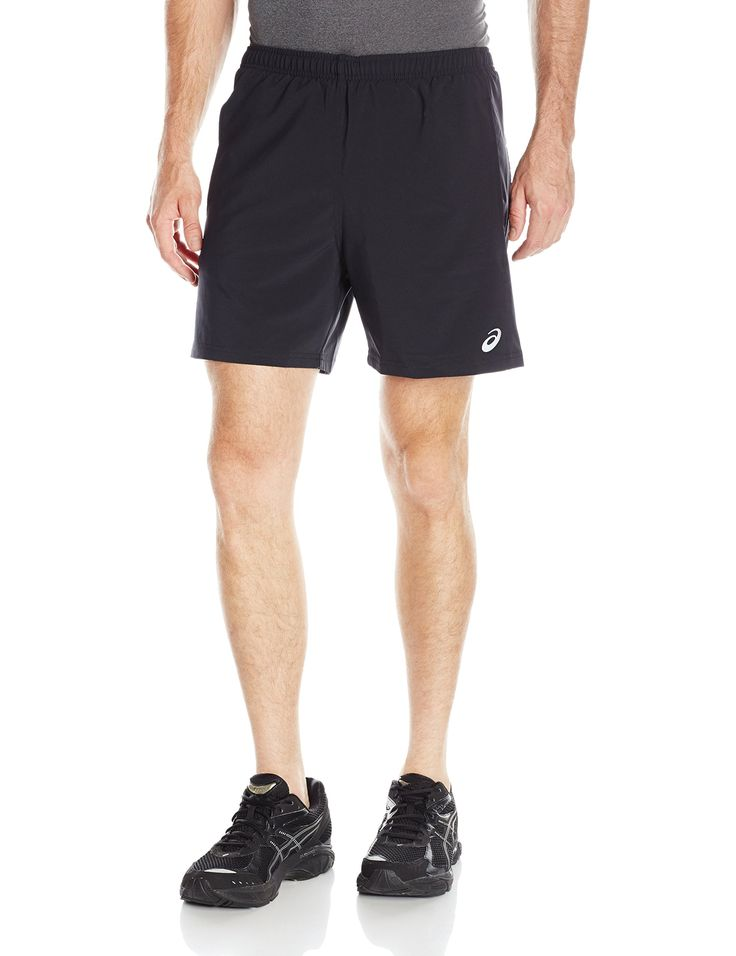 "ASICS Men's 2-in-1 Woven 6"" Shorts, Performance Black, Medium. Lightweight, 4-way stretch woven Dobby fabric with anti-static and wicking finish. ASICS exclusive seamless 5 inch boxer liner with gusset. Self lined hand pockets. Elastic waistband with drawcord, reflective logos. Inseam length: 6 inch."