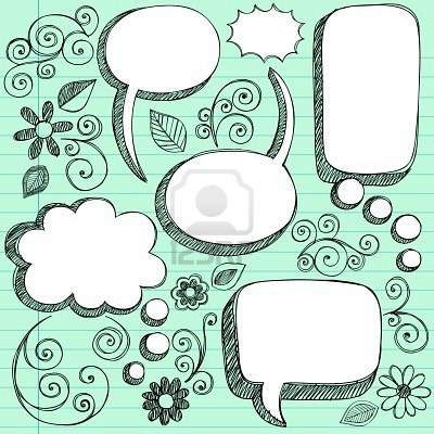 Speech Bubble Doodles - But I REALLY love the swirls