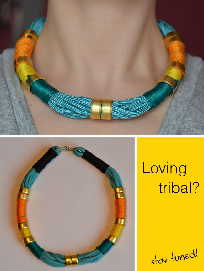 DIY Tribal necklace (I want to make this into a bracelet)