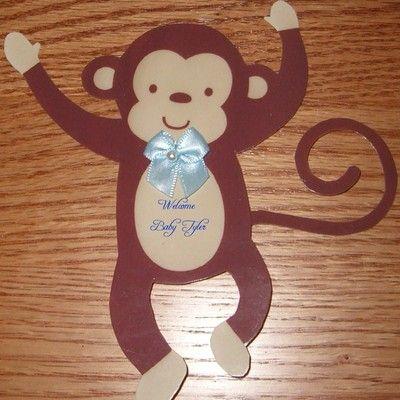 monkey baby shower decorations baby shower
