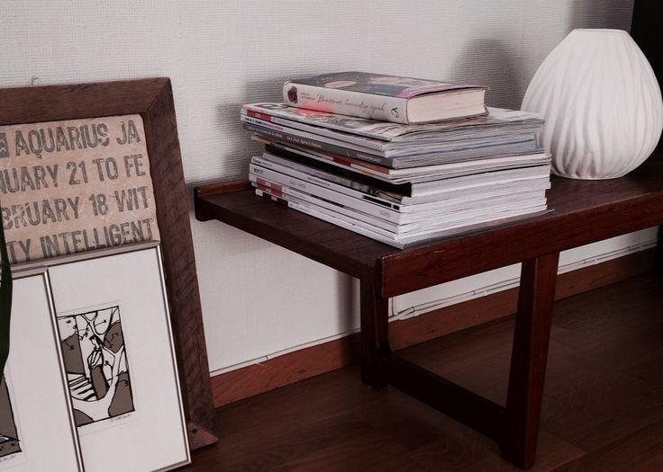 Hjemmelaget bord/benk i teak - Homemade table, teak (Audun Fiskvatn, 1967)