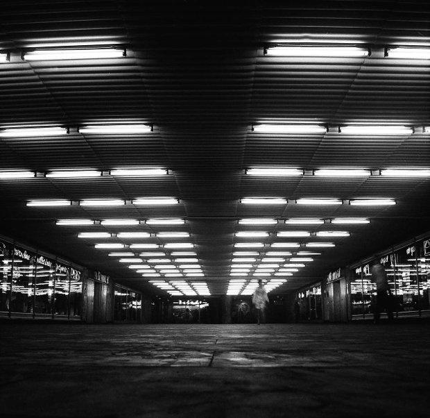 Tunel pod rondem w Katowicach,1965 (photography: Józef Ligęza)