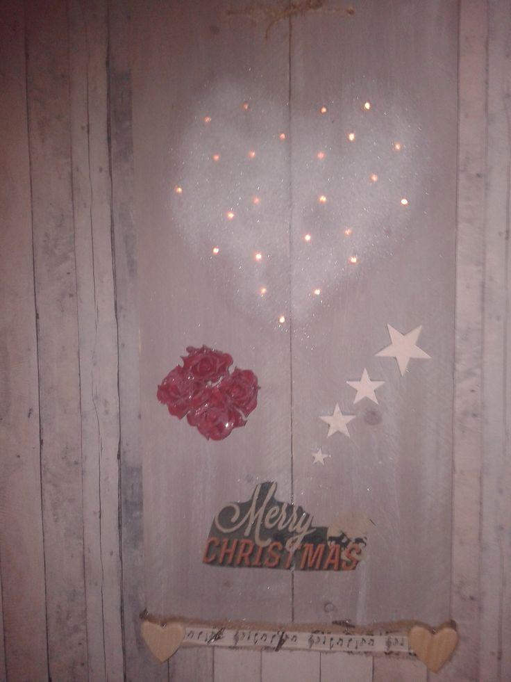 Wandbord met lichtjes  #creatief