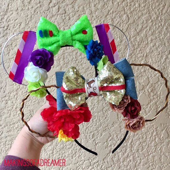 Buzz and Woody Ears Toy Story Ears Sheriff Woody Buzz