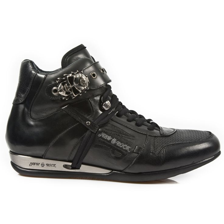 Black leather Dress Sneakers from New Rock Shoes. Lacing up the front, Skull buckle on the top to adjust for comfort. Metal on the heels. This Pair is in Stock and ships out within a week of purchase. NOW ONLY $ 209.99 w Shipping Included! http://www.newrockbootsusa.com/Black-Leather-Hybrid-Shoes-w-Skull-Buckle_p_2433.html