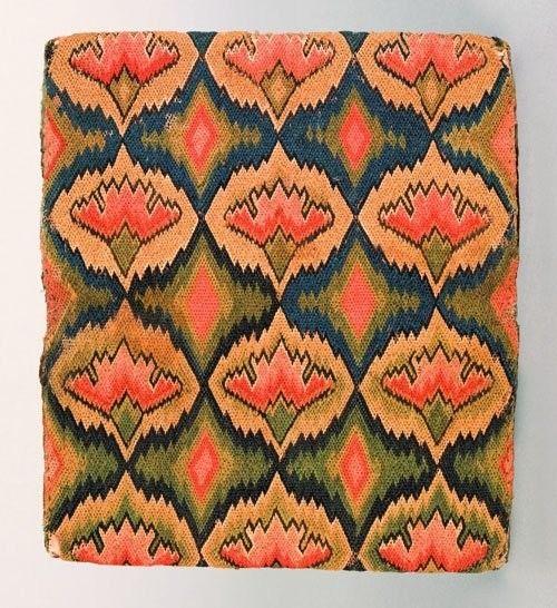 Pocketbook; Needlework, Polychrome Carnation? Bargello Stitch, 8 inch.