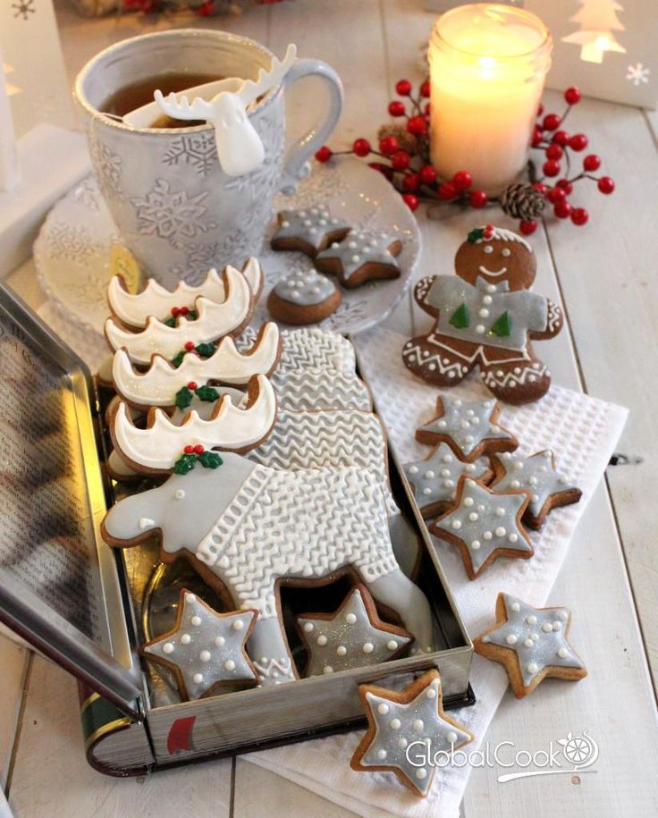 Заварные медовые пряники на Новый год